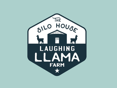 The Silo House at Laughing Llama Farm silo tc texas country farm llamas ciaburri brand branding logo design