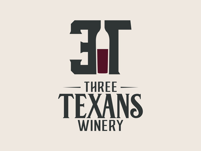 Three Texans Winery and Vineyard rustic brand branding temple tc wine bottle texas winery wine graphic design logo logo design