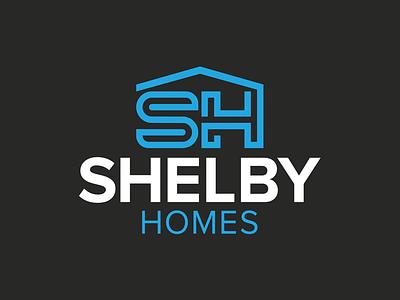 Shelby Homes Logo branding templetx builderlogo homelogo homebuilder ciaburri brand logo design logo