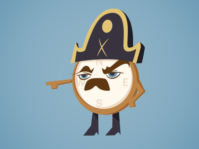 Ron Swanson Compass - Closeup parks and rec parks and recreation character design compass anthropomorphism vector illustration