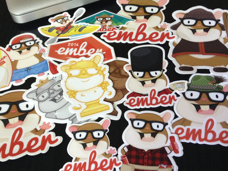 Ember Stickers - Tomster character design tomster ember stickers illustration