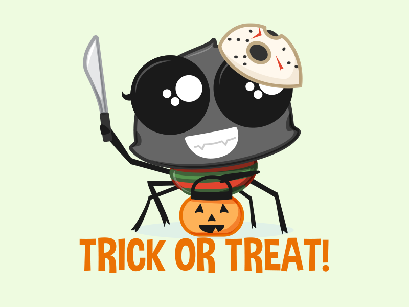 Trick or Treat Wendy - App Stickers trick or treat app stickers digital stickers character design halloween emotions emoji stickers spider vector illustration