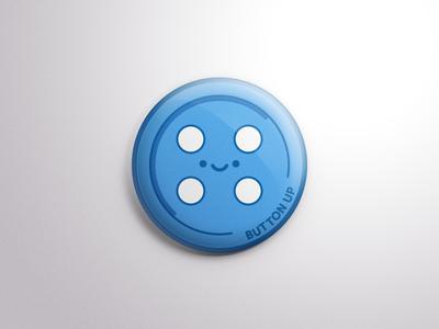 Button Up! - A Button of a Button meta button kawaii illustration vector
