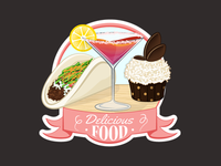 Delicious Food Group Icon - Draft