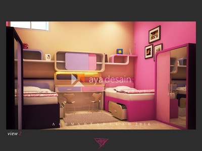 feminism bedroom design for twins.