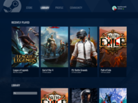 Steam Library Visual UI redesign