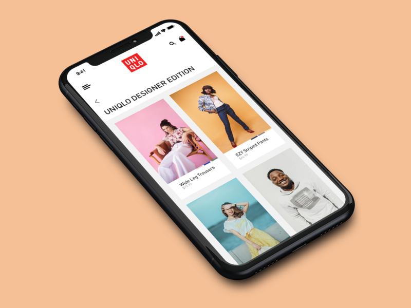 Uniqlo App Visual Redesign uniqlo visualredesign visual design ui design uidesign ui