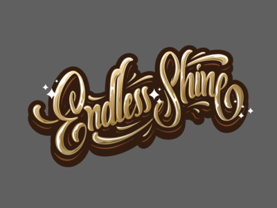 Endless Shine lettering