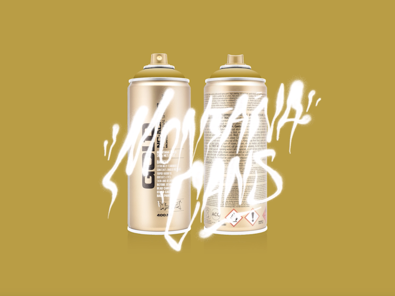 Montana Cans procreate calligraphy streetart graffiti lettering