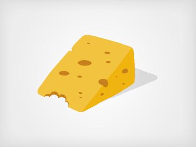 Foodgaze Cheese Logo vector illustration logo shape identity shading 3d