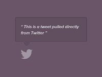 Twitter UI Latest tweet