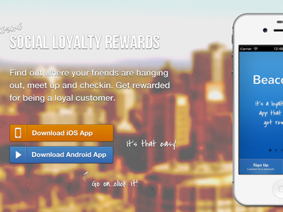 New Beaconize Landing Page landing ios android picture iphone header handwriting