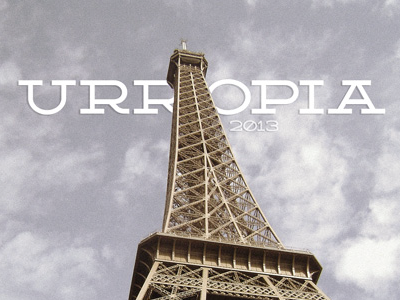 Urropia - We are leaving on a eurotrip for 6 months! photography type typography font