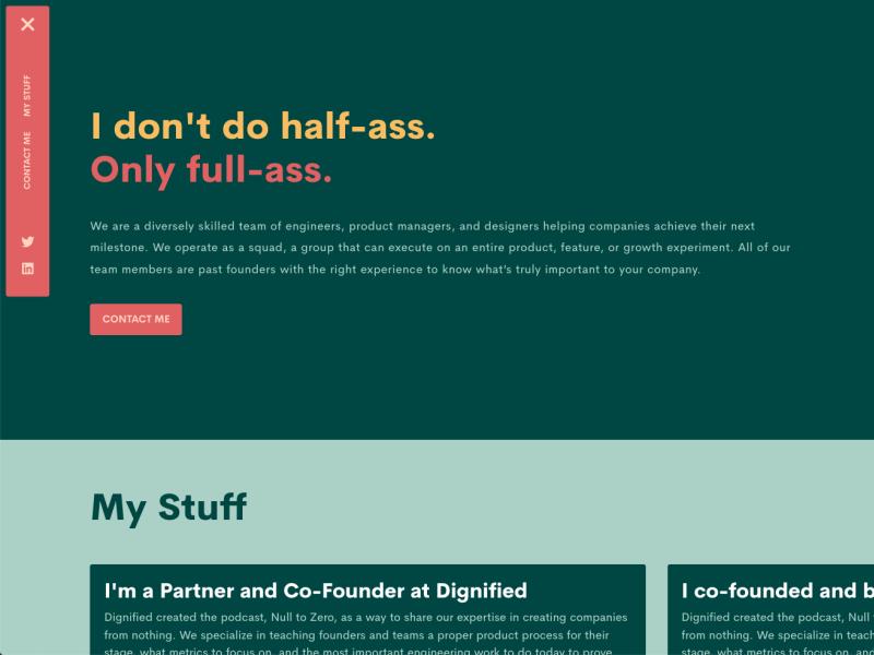 My new portfolio landing page sidebar retro modern flat ux design branding button typography web design portfolio design portfolio