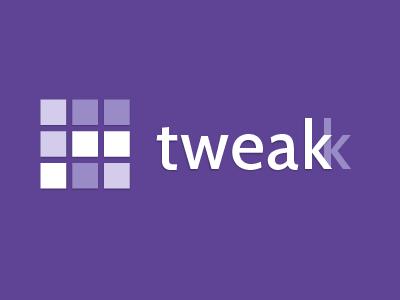 tweakk - New Logo identity logo shape purple square