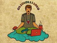Programmer day it design debut first shot illustration
