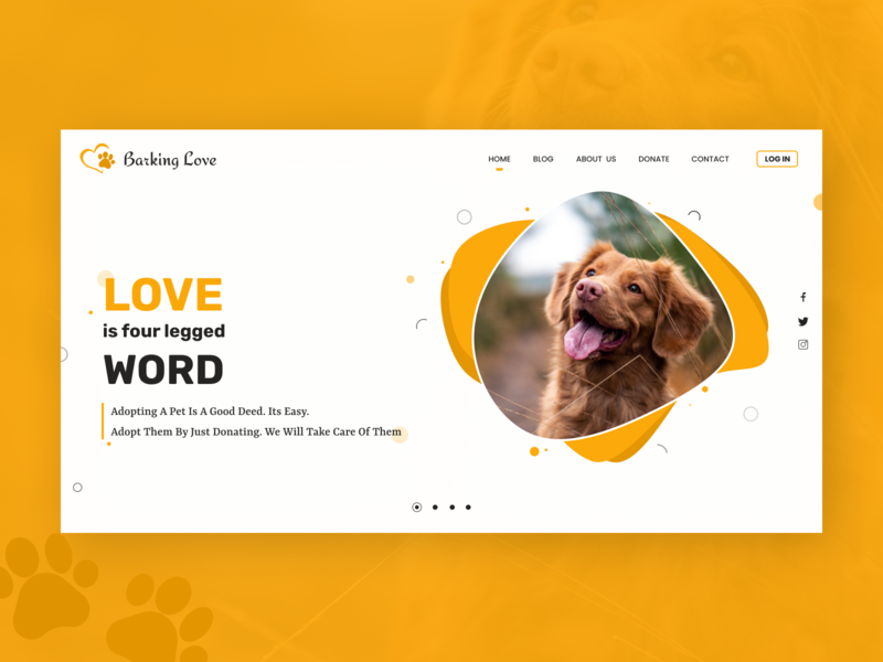 Pet Adoption Website donate donation adopt adoption love pet figmadesign figma webdesign website articles blogger blogging blog design blog app design ux ui