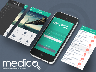 Medico, Medical App services medico hospital ui medicine doctor list view ios medical service menu dashboard login