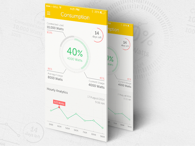 Electricity Control App electricity connected load bill payment electricity usage statistics consumption power alert watts dashboard ios voltage