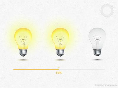 Bulb - Preloader mobile app responsive website loader animation preloader bulb