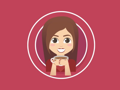 Coffee Break with me after effects coffee coffee break popup illustration animation