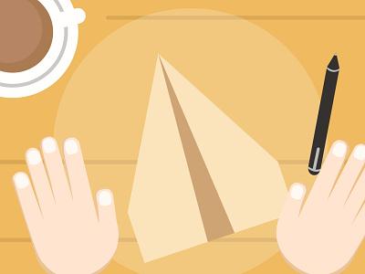 Paper Plane cartoon flat animation quarantine paper plane illustration short story