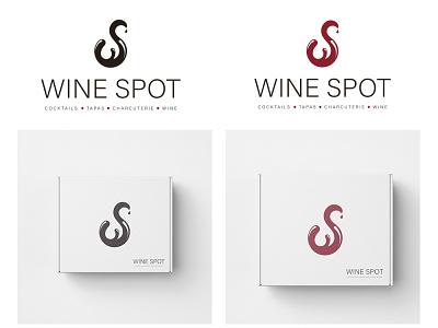 Wine Spot Logo Update icon design restaurant branding black red wine standalone logo icon