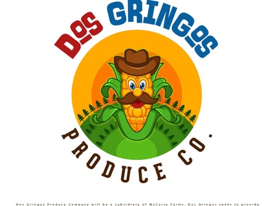 Dos Gringos Logo corn logo illustration logodesign