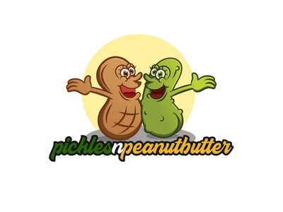 Pickles n Peanutbutter icons youtube logo design logo illustration icon