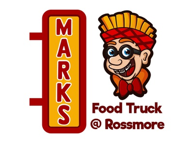 Mark's Food Truck illustration food truck food logo logodesign