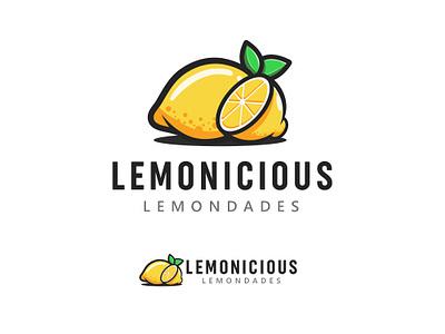 Lemonicious Lemondade lemonade summer lemon drinks food logo logodesign illustration