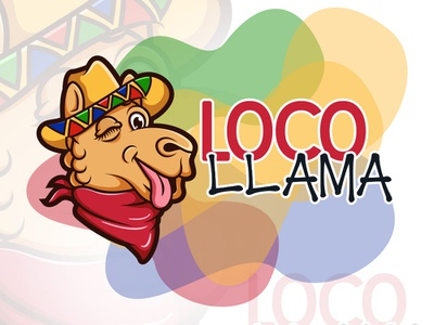 Loco Llama funny illustration llama loco funny logo design logodesign logo illustration
