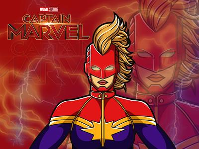 Captain Marvel avengersendgame stan lee captain marvel marvel captain avengers illustration