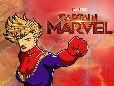 Captain Marvel marvel stan lee captain marvel avengersendgame captain design illustration avengers