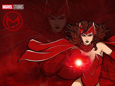 Scarlet Witch scarlet scarlet witch stan lee marvel avengersendgame avengers illustration