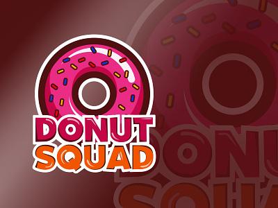 Donut Squad cute illustration desserts sweets design logo squad donut