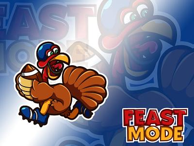Football Turkey ! illustration shirt football logo blue ball thanksgiving day turkey football