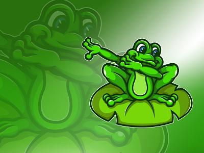 Ribbit! Dabbit! cute fun green logo shirt illustration design illustration cartoon dab green
