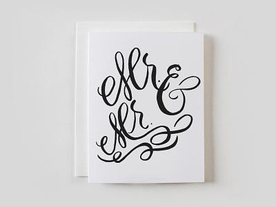 New Prefix Wedding Cards lbgtq inclusive wedding greetingcard stationery script lettering