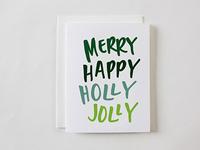 Merry Happy Holly Jolly