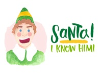 Buddy the Elf - SANTA!