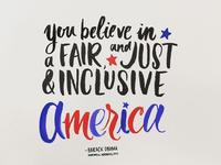 Obama Farewell Address lettering