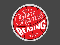 Reading High 2017 PIAA State Champs Sticker