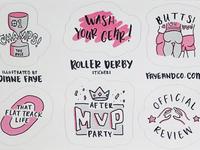 Roller Derby Sticker Sheets