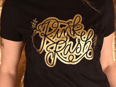 Rink Rash Shirt script type tshirt lettering roller derby skating skate rink rash