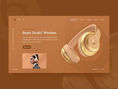 beats ui design webdesign design