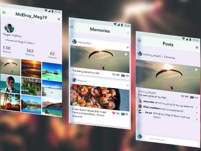 Social Media App UI