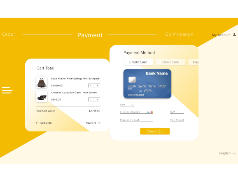 Credit Card Checkout adobexd uidesign uichallenge dailyui002 002 dailyui