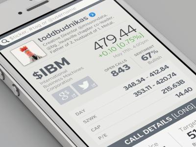 Call Event stock stock data call ticker profile mobile web