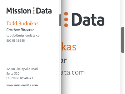 Business Cards business cards cards orange branding logo facit scrollbar